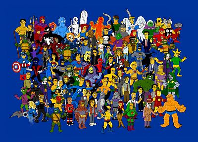 Hulk (comic character), Batman, Venom, Wolverine, Heroes (TV Series), The Joker, geek, Teenage Mutant Ninja Turtles, Spock, The Simpsons, Silver Surfer, Magneto, Mr. Fantastic, The Riddler, Dr. Doom, Nightcrawler, Flash (superhero), Thing (Ben Grimm) - related desktop wallpaper