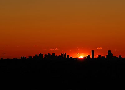 sunset, landscapes, Sun, cityscapes, buildings, skyscapes - desktop wallpaper