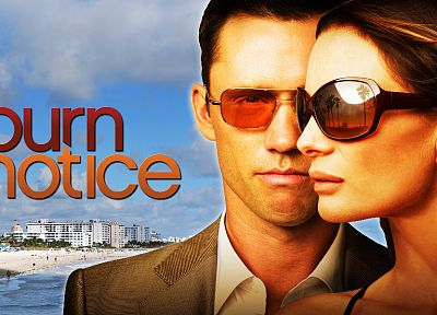 sunglasses, Burn Notice, Gabrielle Anwar, TV posters, Jeffrey Donovan - random desktop wallpaper