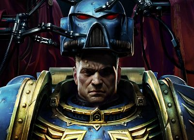 futuristic, space marines, helmet, armor, ultramarine, Warhammer 40, 000, Warhammer 40k - related desktop wallpaper