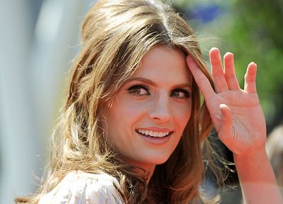 women, Stana Katic, faces - desktop wallpaper