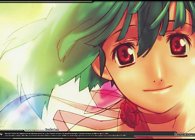 Macross Frontier, anime, Lee Ranka - random desktop wallpaper