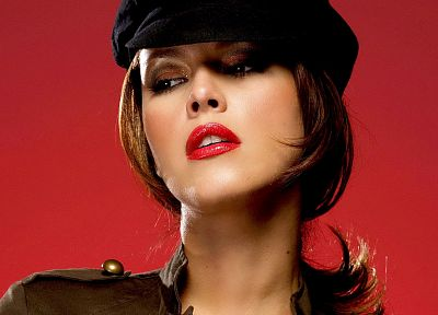 uniforms, Alicia Machado, faces - desktop wallpaper