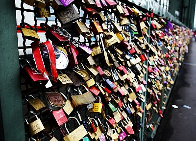 wall, Germany, Cologne, locks - desktop wallpaper