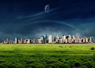 landscapes, outer space, cityscapes, planets - desktop wallpaper