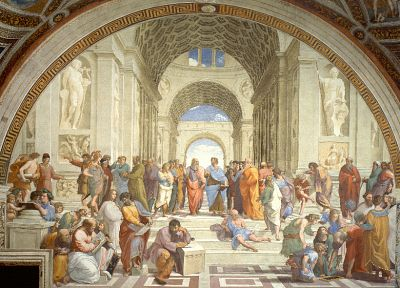 The School of Athens, Raphael (painter), philosophers - random desktop wallpaper