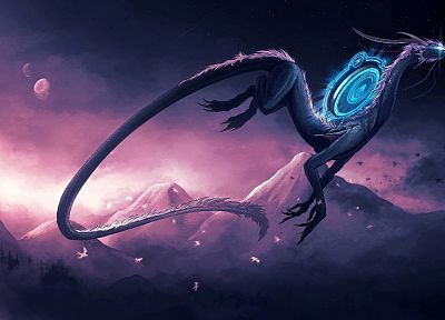 dragons, fantasy art - desktop wallpaper
