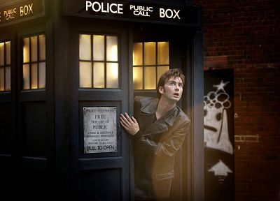 TARDIS, David Tennant, Doctor Who, Tenth Doctor - random desktop wallpaper