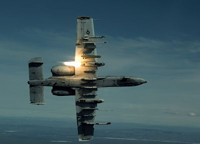 aircraft, missiles, A-10 Thunderbolt II - desktop wallpaper
