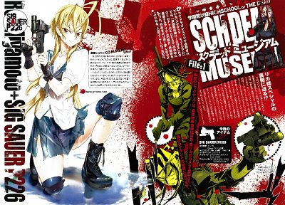school uniforms, Highschool of the Dead, Miyamoto Rei, Minami Rika - related desktop wallpaper