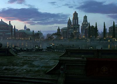 Star Wars, Naboo, cities - desktop wallpaper