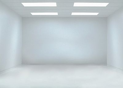 white, empty, white room - desktop wallpaper