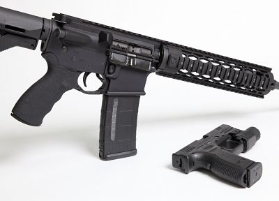 guns, weapons, Magpul, AR-15, Springfield Armory, XD - random desktop wallpaper