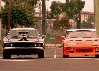 cars, muscle cars, vehicles, Toyota Supra, supercharged, Dodge Charger, The Fast and the Furious - related desktop wallpaper