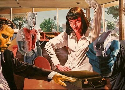movies, Pulp Fiction, artwork - random desktop wallpaper