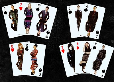 cards, Rose Tyler, David Tennant, Torchwood, Doctor Who, Christopher Eccleston, John Barrowman, Freema Agyeman, Catherine Tate, Martha Jones, Donna Noble, Tenth Doctor, Jack Harkness, Ninth Doctor - related desktop wallpaper
