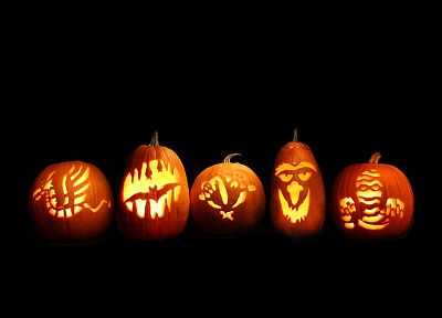 Halloween, Jack O Lantern, pumpkins - desktop wallpaper