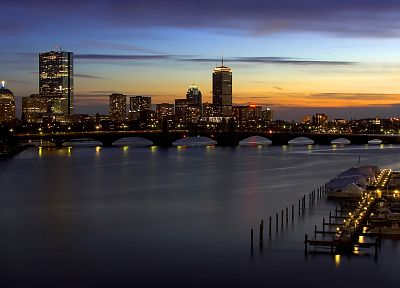 cityscapes, architecture, urban, buildings, Boston - random desktop wallpaper