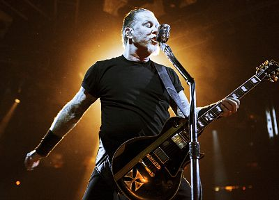 Metallica, guitars, James Hetfield, concert - random desktop wallpaper