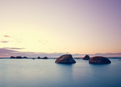 water, ocean, landscapes, rocks, sea - related desktop wallpaper