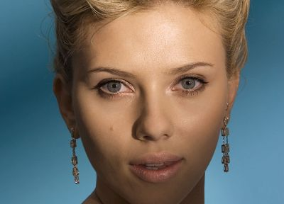 Scarlett Johansson, actress, earrings - random desktop wallpaper