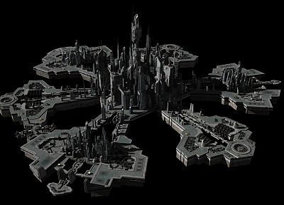 cityscapes, architecture, Stargate Atlantis, Stargate, buildings, 3D renders - related desktop wallpaper