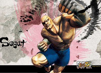 Sagat, Street Fighter IV - random desktop wallpaper