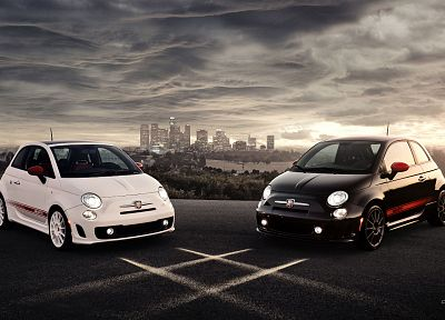 cars, Fiat 500, Abarth - random desktop wallpaper