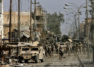 soldiers, army, military, Iraq, Humvee, Hummer H1 - related desktop wallpaper