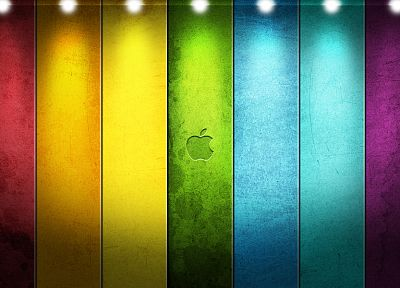 Apple Inc., colors, stripes - random desktop wallpaper