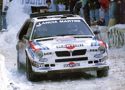 snow, rally, Lancia, racing, WRC, races, rally cars, World Rally Championship, Monte Carlo, racing cars, Group B rally, rally car, Delta S4, Lancia Delta S4 Stradale - desktop wallpaper