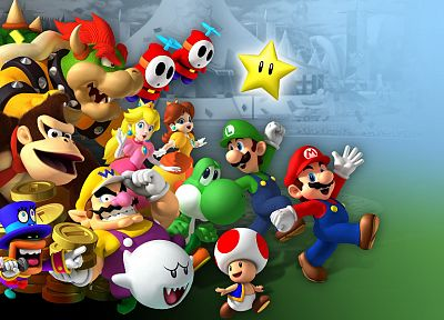 video games, Mario - random desktop wallpaper