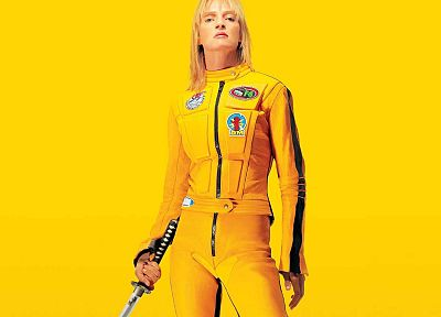 yellow, Uma Thurman, Kill Bill, black mamba - desktop wallpaper