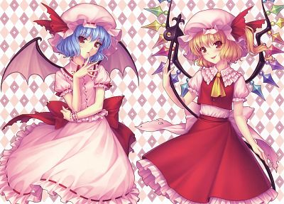 Touhou, Flandre Scarlet, Sayori Neko Works, Remilia Scarlet, anime girls - desktop wallpaper
