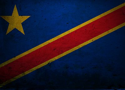 flags, Congo - desktop wallpaper