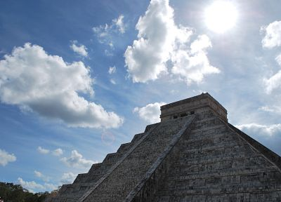 architecture, buildings, Mexico, archeology, pyramids, Mayan - desktop wallpaper