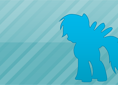 My Little Pony, Rainbow Dash, simple - desktop wallpaper