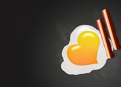 eggs, minimalistic, food, hearts - related desktop wallpaper