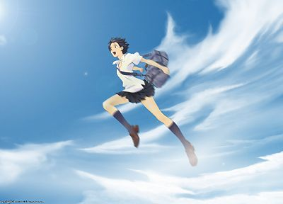 school uniforms, The Girl Who Leapt Through Time, Konno Makoto - random desktop wallpaper