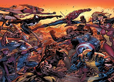 Iron Man, Venom, Spider-Man, Captain America, Wolverine, Avengers comics, Marvel Comics - desktop wallpaper