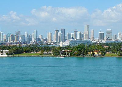 landscapes, cityscapes, towns, skyscrapers, Miami, city skyline - related desktop wallpaper