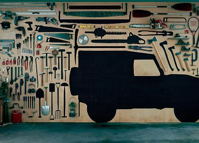 saw, hammer, tools, Land Rover, defender - related desktop wallpaper
