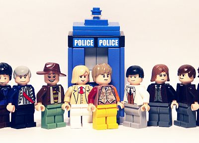 TARDIS, Doctor Who, Legos - random desktop wallpaper