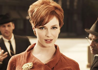 women, actress, redheads, celebrity, Christina Hendricks, Mad Men - related desktop wallpaper