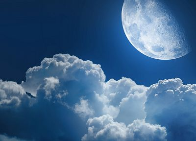 clouds, Moon, skyscapes - random desktop wallpaper