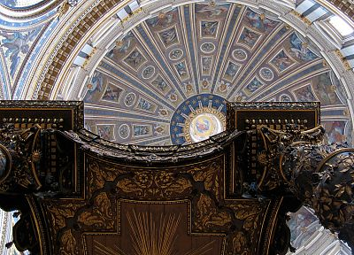 architecture, buildings, renaissance, Rome, churches, Italy, dome, st peter's basilica, ceiling - desktop wallpaper