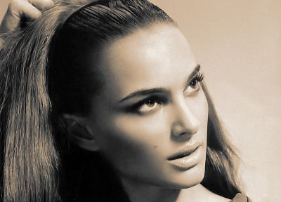 women, actress, Natalie Portman, monochrome - related desktop wallpaper