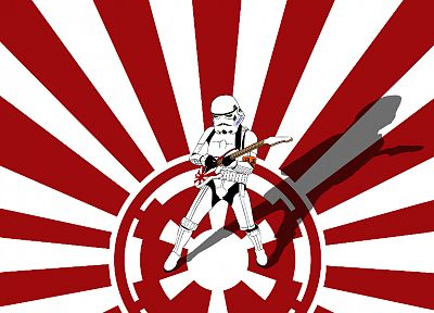 Star Wars, stormtroopers, guitars, Galactic Empire - desktop wallpaper