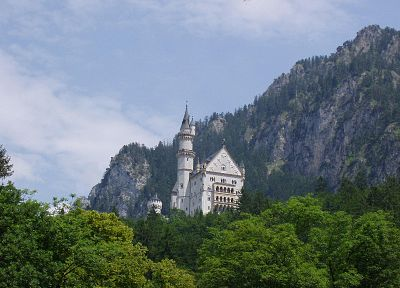 mountains, castles, Germany, Bavaria, Neuschwanstein Castle - related desktop wallpaper