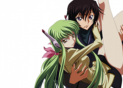 Code Geass, Lamperouge Lelouch, C.C., simple background - random desktop wallpaper
